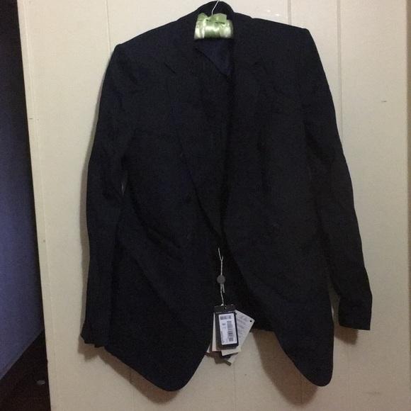 best website 8b113 b710d Emporio Armani blazer navy jacket coat giacca NWT